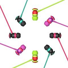 LABSIC-IP118 3.5mm HiFi Stereo MiNi Metal Noodle line Calls Bass Ear Earplugs  inline Microphone  for PC Laptop Phone