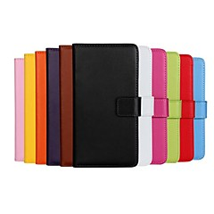 modèle de couleur unie en cuir véritable cas de tout le corps avec support et une carte slot pour Nokia Lumia 930
