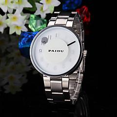 Heren Dress horloge Unieke creatieve horloge Kwarts Band Creatief Zilver Merk