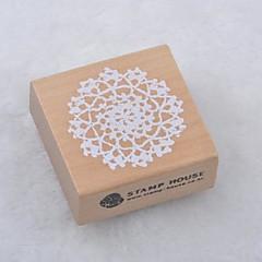 5cm x 5 εκατοστά τετράγωνο ρομαντικά floral μοτίβο λουλούδι ξύλινες σφραγίδες