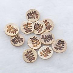 folha padrão recados scraft costura coco diy botões de casca (10 pcs)