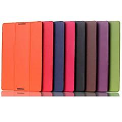 10,1 tuuman kolminkertainen taittuvat kuvio korkealaatuinen pu nahka Lenovo a10-70 a7600 (eri värejä)