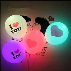 코웨이 발렌타인 조명 풍선 난 당신이 빛나는 풍선 거대한 마음 (임의의 색상을) 주도 사랑