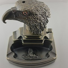 style aigle créative 2-en-1 coupe-vent butane en métal léger avec cendrier