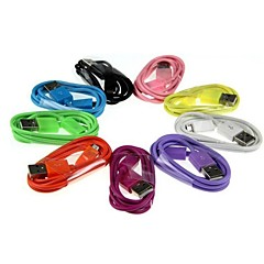 2m V8 Micro USB színek kerek adatkábel Samsung és egyéb telefonra (vegyes színek)