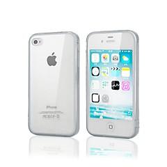 qianjiatian®tpu silicone de cas soft shell pour iphone4 / 4s (couleurs assorties)