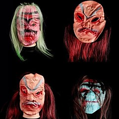 Silicone Material Fancy Dress Party Halloween Mask (Random Color)