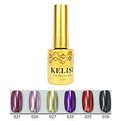1pcs kelisi professionelle Metall UV Farbgel no.25-30 (12ml, Farbe sortiert)