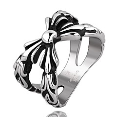 X Super Cool Personality Man Titanium Steel Ring