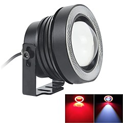 67MM 10W LED 7000K Cool White Fog Light and Red Angel Eye Rings DRL DIY Bulb for Car (DC 12V-24V)