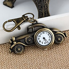 Unisex Alloy Analog Quartz Keychain Watch with Retro Car (Bronze)(1Pc) Cool Watches Unique Watches