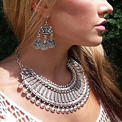 Bronze / Silver Statement Necklaces Alloy Daily / Casual Jewelry