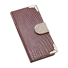 Lizard Pattern Full Body Case with Bling Buckle and Wallet Function Cover for iPhone 4/4S(Assorted Colors)