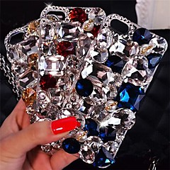 LADY  Shining Luxury Models with  Diamond Hard Back Cover for iPhone 4 /4S(Assorted Colors)