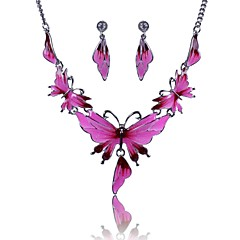 Women's Europe Alloy Butterfly Jewelry Set(Including Necklaces Earrings)