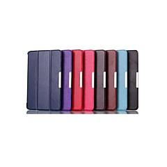 8 pulgadas de tres patrón de plegamiento caso de cuero de la PU con el soporte para la sede dell 8 (colores surtidos)