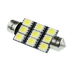 41mm (sv8.5-8) 4.5w 9x5060smd 280-360lm 6500-7500k lumière blanche pour lampe voiture de dôme (dc12-16v)