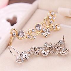 European Style Fashion Rhinestone Butterfly Single Earrings