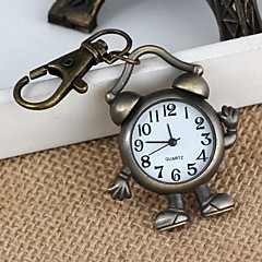 unisex robot / wekker-vormige legering analoge quartz sleutelhanger horloge (1 st)