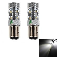 HJ는 1157 11w 1000lm 6500-7000k 11xsmd 자동차 안개 빛 (12-24V, 2PCS)를위한 백색 조명 LED 전구