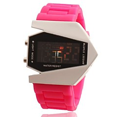 女性の航空機スタイルの多機能デジタル腕時計(アソートカラー)