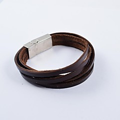 Fashion Men's Multi-turn PU Leather Bracelets