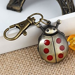 unisex rode beatles legering analoge quartz sleutelhanger horloge (brons)