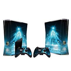 B-Skin Xbox 360 Slim konsolen skyddande klistermärke täcker flår controller hud klistermärke