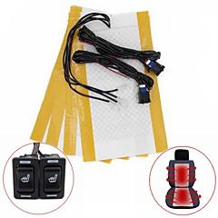 Rechteck hallo-lo-off-Schalter Kohlefaser-Sitzheizung-Kit für alle Art Autos (zwei Sitz installieren)