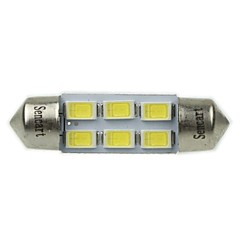36MM(SV8.5-8) 3W 6X5730SMD 180-220LM 6000-6500K White Light LED Bulb for Car Reading Lamp(AC12-16V)