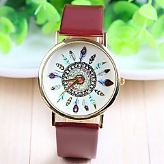Women's Fashion Style PU Band Quartz Analog Wrist Watch (Assorted Colors)