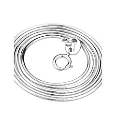 Women's Chain Necklaces Snake Sterling Silver Classic White Jewelry For Party Gift Daily Casual 1pc
