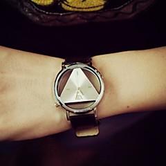 menns høykvalitets lær bandet kvarts mote ur (assorterte farger)