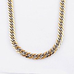 Fashion Men's Color Gold 316L Stainless Steel Thick Chain Necklace Jewelry