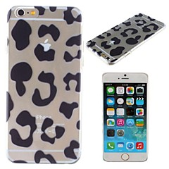 Leopard Print Pattern Transparent PC Hard Cover for iPhone 6