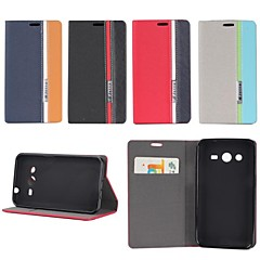 Three Color Design PU Leather Full Body Case with Stand for Samsung Galaxy Core 2 G3556D/G355H (Assorted Colors)