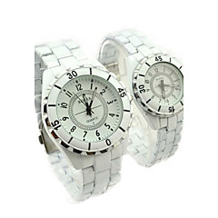 Couple's Steel Watch Ceramic Quartz Watch
