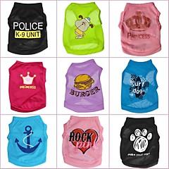 Camiseta para Perros / Gatos Primavera/Otoño XS / S / M / L Terylene