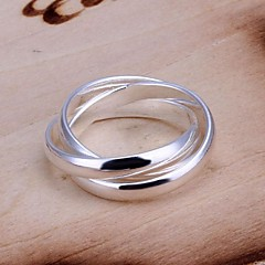 Personality Fashion Third Ring Road High Quality Copper Plating Ms 925 Silver Ring