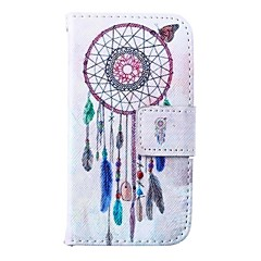 Wind Bells Pattern PU Leather Full Body Case for iPhone 4/4S