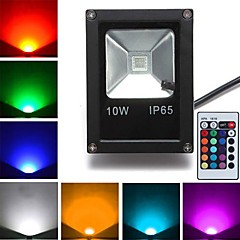 1 stk 10w led floodlight 1 high power led 800 lm rgb fjernstyret ac 85-265 v