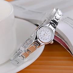 Mulheres Relógio de Moda Quartzo Lega Banda Prata Branco Preto