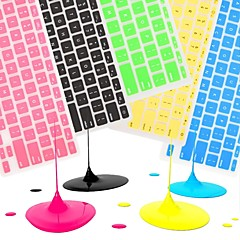 """11 için renkli silikon klavye kapağı cildi coosbo® """"/ 13"""" / 15 """"/ 17"""" macbook air pro / retina (çeşitli renklerde)"""