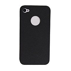Quicksand Plastic Hard Back Cover for iPhone 4 (Assorted Color)