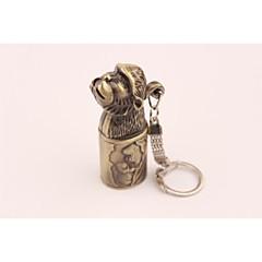 Творческий обезьяна металл ветрозащитный бутан зажигалка бронза
