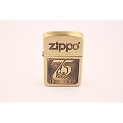 klassisk zippo75 jubileum logo golden butan lighter