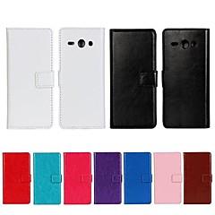 Για Θήκη Huawei Πορτοφόλι / Θήκη καρτών / με βάση στήριξης / Ανοιγόμενη tok Πλήρης κάλυψη tok Μονόχρωμη Σκληρή Συνθετικό δέρμα Huawei