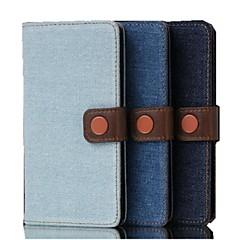 5 tuuman denim kankaan kuvio lompakko nahka kotelo LG G3 mini (lg g3 beat) (valikoituja värejä)