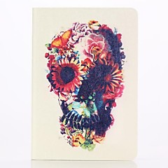 Colored Skulls Pattern PU Leather Full Body Case with Stand  for iPad Mini 1/2/3