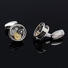 novio formal de la actividad de los hombres se adapte a gemelos de engranajes de relojes camisa para el regalo de Navidad (más colores)